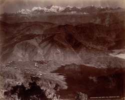 Kinchinjunga from Birch Hill, Darjeeling.